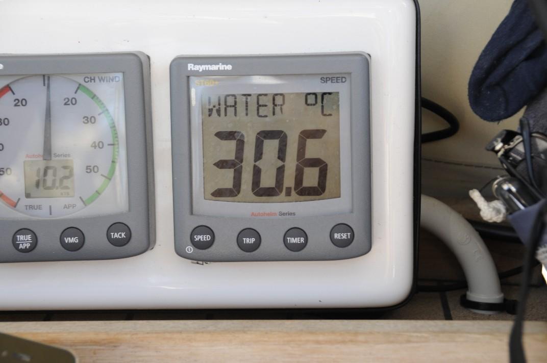 30,6 grader i vattnet